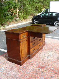Antique Flame Mahogany Buffet Sideboard with Wine Drawers by Beacon Hill