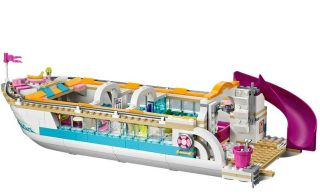 Lego® Friends Dolphin Cruiser Yacht with Minifigures Open Box