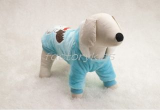 Pet Puppy Dog Winter Warm Cotton Moose Hooded Coat Clothes Christmas Costume Ind