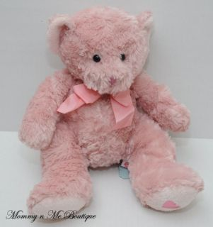 "Russ Berrie Pooky Pink 11"" Teddy Bear Plush Toy"