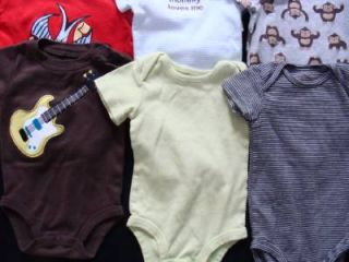 Baby Boy 0 3 3 6 Months Spring Summer Onesie Under Shirt Bodysuit Clothes Lot