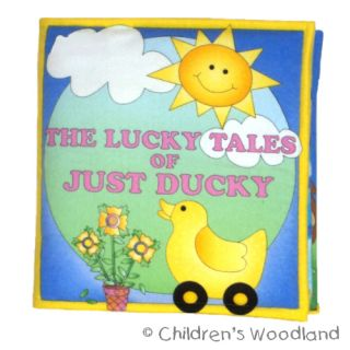 Rubber Duck Ducky Cloth Soft Book Kids Baby Toddlers
