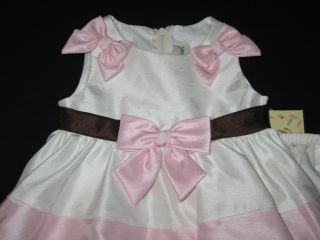"New ""French Vanilla Bows"" Dress Girls Baby Clothes 6M Spring Boutique Easter"