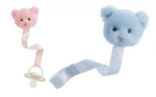 New Teddy Bear Pacifier Clip Baby Shower Diaper Cake Holder