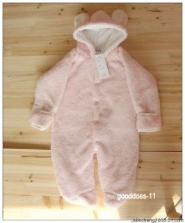 Boy Girl Baby Clothes Winter Animal Onesie Fleece Jacket Coat Clothes Bear 0248D