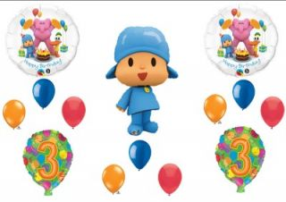 Pocoyo Friends 3rd Third Happy Birthday Party Balloons Decorations Supplies