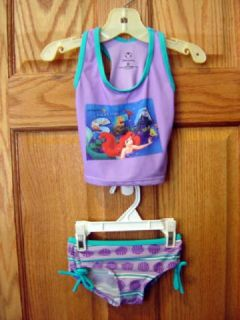 Girls 2T Disney Ariel Little Mermaid Swimsuit Swimwear
