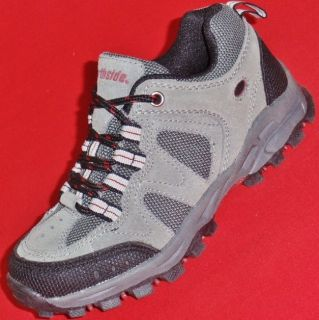 New Boy's Toddler's Northside Gray Black Suede Casual Trail Hiking Boots Shoes