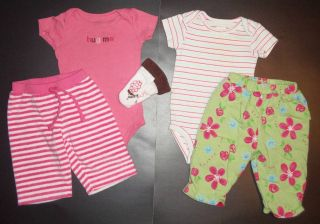 37 Pieces Baby Girl Clothes Lot Size Newborn 0 3 Months