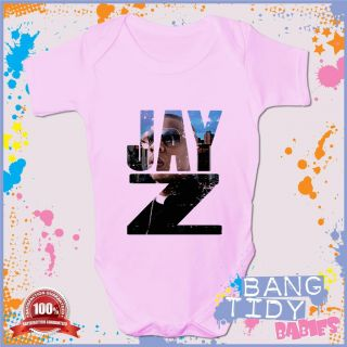 Jay Z Baby Grow Hip Hop Rapper Cool Boy Girl Babies Clothing Fun Gift