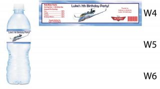 Planes Movie Printed Water Bottle Labels Birthday Party Favors Supplies