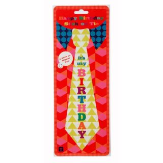 Birthday Bash Adults Childs Stick on Happy Birthday Tie