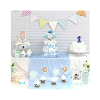 12 Kind Baby Shower DIY Set for Prince Princess Pink Blue Party Decorations