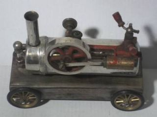 "Vintage Live Steam Engine Model Kit on Frame w Wheels 9""x7""x4"" Wilesco"