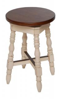 Avondale Solid Wood Swivel Counter Stool w 2 Tone Finish ID 29630