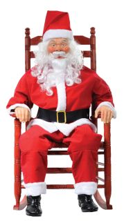 Rocking Chair Santa Claus Halloween Prop Decoration House Christmas Yuletide