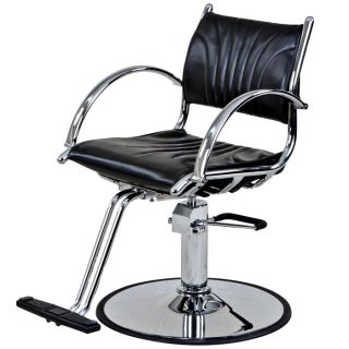 New Black Cover Salon Hydraulic Styling Chair SC 02BLK