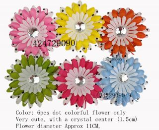 Wholesale Lots Party Daisy Flower Clip Crochet Girls Baby Lady Hair Bow Hot