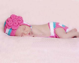 C Baby Girl Boy Newborn 9M Knit Crochet Handmade Clothes Photo Prop Outfits