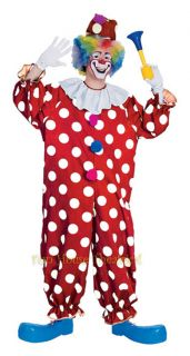 Dotted Clown Halloween Costume Party Jumpsuit Adult 55052