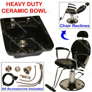 All Purpose Salon Barber Chair Ceramic Shampoo Bowl