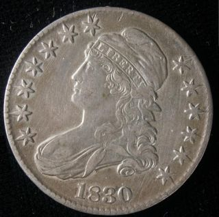 1830 Capped Bust Half Dollar Nice Original Coin LQQK