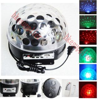 LED Stage Light RGB Crystal Magic Ball Effect Light Disco DJ Party Stage Lightin