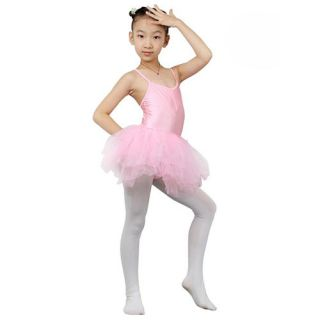 Girl's Leotard Dance Ballet Dress Skirt Tutu Pink