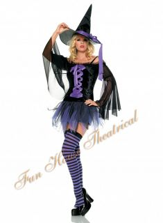 Sexy Midnight Witch Halloween Costume Dress Woman 83247