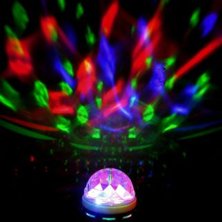 Crystal Magic Ball Stage Lights LED E27 RGB Rotating Lamp for Party Disco DJ Bar