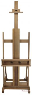 Artist Studio Easel Sturdy H Frame Extraordinary Build Hardwood Finished New