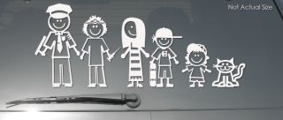 FS 1 Family Stickers Custom Figure Dad Mom Kids Pets Car Window Vinyl Decal
