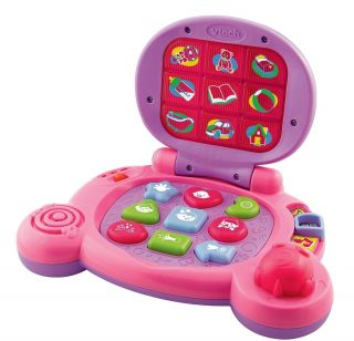 Laptop Vtech Pink Baby Learning Toy Computer Educational Toddler Girl Kids Learn