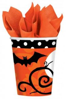 Halloween Party Plates Napkins Cups Supplies Trick or Treat Scary Haunted House