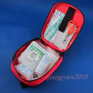 24pcs Outdoor Sport Travel Camping Home Medical Emergency Survival First Aid Kit