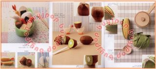 Japanese Craft Pattern Book 20cm Felt Yummy Food Fruit Vegetable Chinese Version