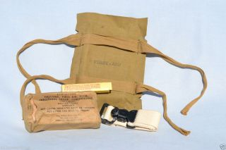 WWII US Army Medic Combat Bag First Aid Helmet Pouch WW2 Medical USA WW2 Med