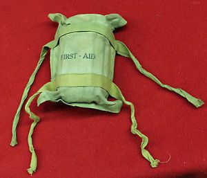 20022 RARE Paratrooper WWII First Aid Kit D Day Named H 9995 WOW Nice Military