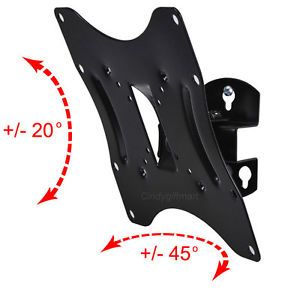 "Tilt Swivel LCD LED Flat Screen TV Monitor Wall Mount 23 24 26 27 32 37 40"" C46"