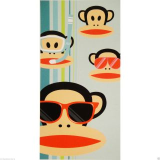 Paul Frank Julius Monkey Sunglasses Snorkel Beach Bath Towel Throw Wrap