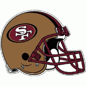 NFL San Francisco 49ers Football Helmet Team Logo Die Cut Pennant
