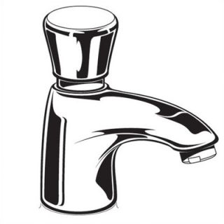 American Standard Pillar Tap Single Hole Metering Faucet with Single Knob Handle   1340.105