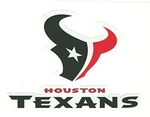 "Houston Texans Football Car Bumper Sticker 5""x 4"""