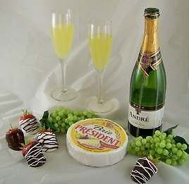 Champagne Collection Fake Food Drinks Appetizers Faux Strawberries Cheese Grapes