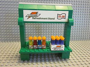 Lego Custom Drinks Food Bottles Refreshment Stand City Town