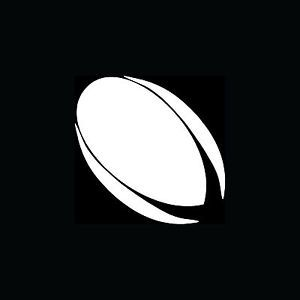 Rugby Ball Silhouette Vinyl Sticker Car Window Decal Laptop Sports Football Play