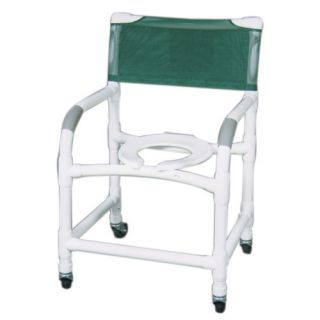 MJM International Wide Deluxe Shower Chair and Optional Accessories