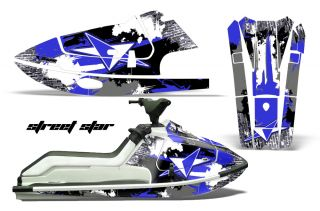 AMR jetski Graphic Sticker Wrap Kit Kawasaki X2 650 Part 86 95 Jet Ski Star Blue