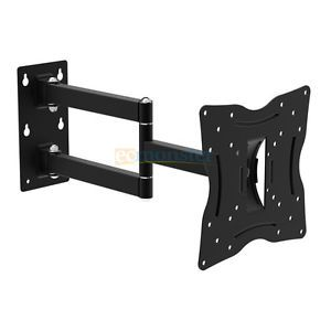 13 37'' 77lb Full Motion Swivel Tilting LCD LED Monitor Wall TV Mount Bracket