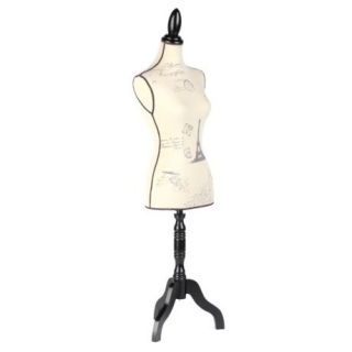 Large Full Size Mannequin Fabric French Dress Form Stand Eiffel Tower Postcards